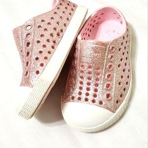 Native Jefferson Bling Pink Glitter Shoes